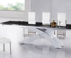 Frosted Glass Dining Room Table Table Contemporary Oval Extendable Glass Dining Table Amusing