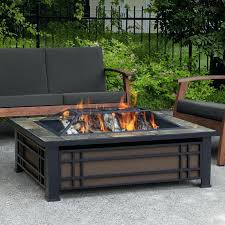 Firepit Mat Wooden Pit Steel Wood Burning Pit Table Wood Deck
