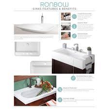 48 Inch Medicine Cabinet by Ronbow Calabria 48 Inch Bathroom Vanity Set In Black With Medicine