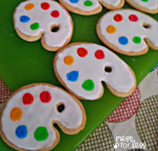 paint palette cookies for an art party food fun friday mess