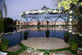 wedding arch las vegas swan garden at the lake harmony all inclusive wedding reception