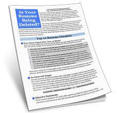 Resume Checklist Home