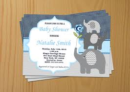 elephant baby shower invitation boy baby shower invitations