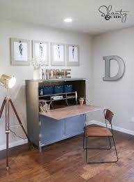 diy flip top secretary desk as seen on hgtv open concept shanty