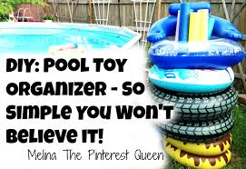 diy pool toy organizer so simple you won u0027t believe it youtube