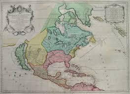 North America Map 1700 by North America California Island Amerique Septentrionale Michael