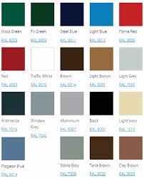 light brown paint color chart seceuroglide sectional garage door colour chart