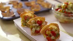 idée de canapé canapés croustillants à la salsa de mangue cuisine futée
