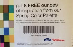 lowe u0027s free 8oz spring color paint palette sample