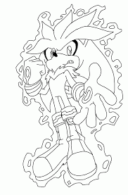 silver the hedgehog coloring pages coloring page sonic the