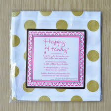 poem from bride to groom on wedding day wipe away happy tears with wedding handkerchiefs by the