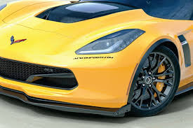 zip corvette catalog 2014 2018 corvette acs z06 front splitter stage 2 side deflectors