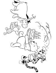 winnie pooh happy birthday party coloring u0026