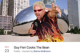 Chicago Memes Facebook - guy fieri cooks the bean chicago bean facebook events know your meme