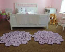 Purple Rugs For Bedroom Pink And White Ombre Gradient Crochet Round Rug Geometric