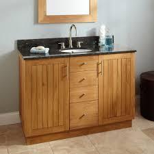 Teak Bathroom Cabinet 48 Montara Teak Vanity For Undermount Sink Teak Bathroom