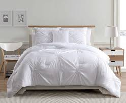 White Bed Set King 4 Piece Paige White Comforter Set