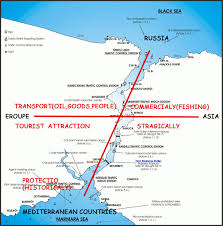 Bosporus Strait Map Layered Istanbul Group C November 2010