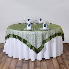 embroidered sheer organza table overlays wedding party reception