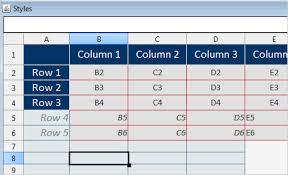 spread sheet java spreadsheet library java swing data grid library