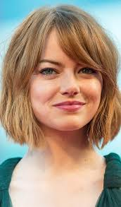 bob haircut for chubby face 10 celebrity hairstyles with round faces celebrity rounding and