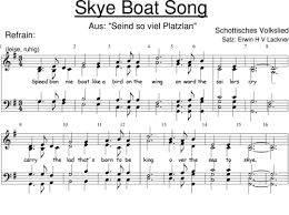 musicalion boat song anonymus sheet to