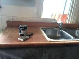 How To Remodel A Laminate Countertop To Look Like Stone Hometalk - Kitchen sink paint