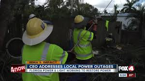 Fpl Outage Map Fpl Adresses Power Outage Questions Fox 4 Now Wftx Fort Myers