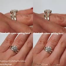 plain wedding band classic 6 prong cz engagement ring solitaires plain wedding band