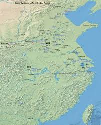Yellow River China Map by Da Yunhe 大運河 The Grand Canal Www Chinaknowledge De