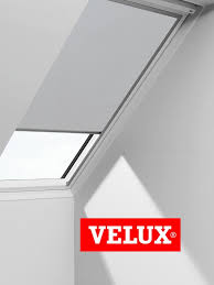 velux blackout blinds easy fit quality roof window roller in light