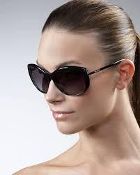prada oversized cat eye sunglasses in brown lyst