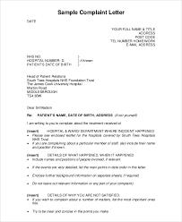complaint letter sample complaint letter example 22 complaint