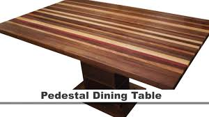 maple dining room furniture pedestal dining table walnut bloodwood yellowheart cherry