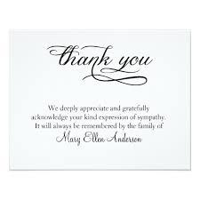 funeral thank you notes thank you funeral thank you note card behreavement zazzle