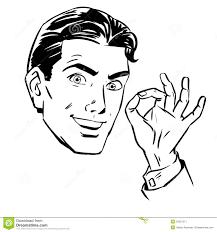 sketch a man wants gesture okay stock vector image 54221211