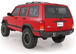jeep xj bumper smittybilt 76850 xrc rear bumper for 84 01 jeep cherokee xj