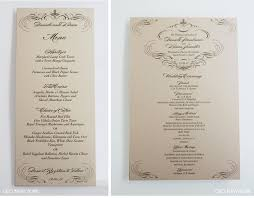 wedding menus and programs wedding ideas ivory and gold weddinggram poster menu schedule of