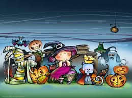 my free wallpapers cartoons wallpaper trick or treat halloween