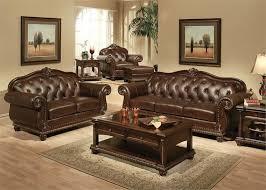 Top Grain Leather Living Room Set Anondale Acme Top Grain Leather Sofa Set