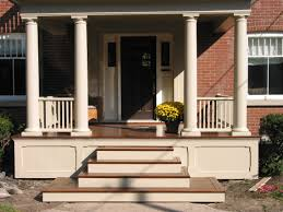 exterior natural look of stone outdoor patio steps ideas