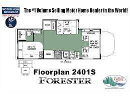 Class C Floor Plans by 2018 Forest River Forester Mbs 2401s Sprinter Diesel Rv For Sale
