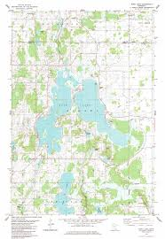 Lake Maps Mn Rush Lake Topographic Map Mn Usgs Topo Quad 45093f1
