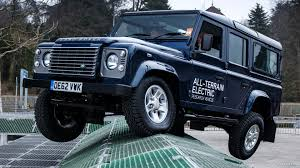 new land rover defender concept 2013 land rover electric defender concept off road demonstration