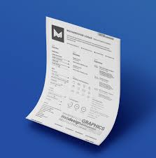 free clean u0026 minimal resume template for graphic u0026 web designers