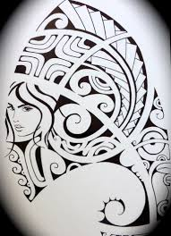 black and white maori tattoo pencil sketch great drawing