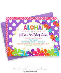 luau invitation hawaiian invitations luau birthday