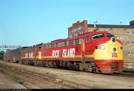 railroad print the rocket rock island by ben dedek railroad