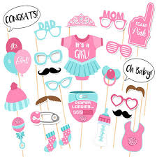 it s a girl baby shower decorations photo booth baby shower decorations diy its a girl photobooth