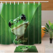 online get cheap shower curtains sets aliexpress com alibaba group cute tree frogs bed bath shower curtain sets waterproof fabric with 12 hooks wts030 china